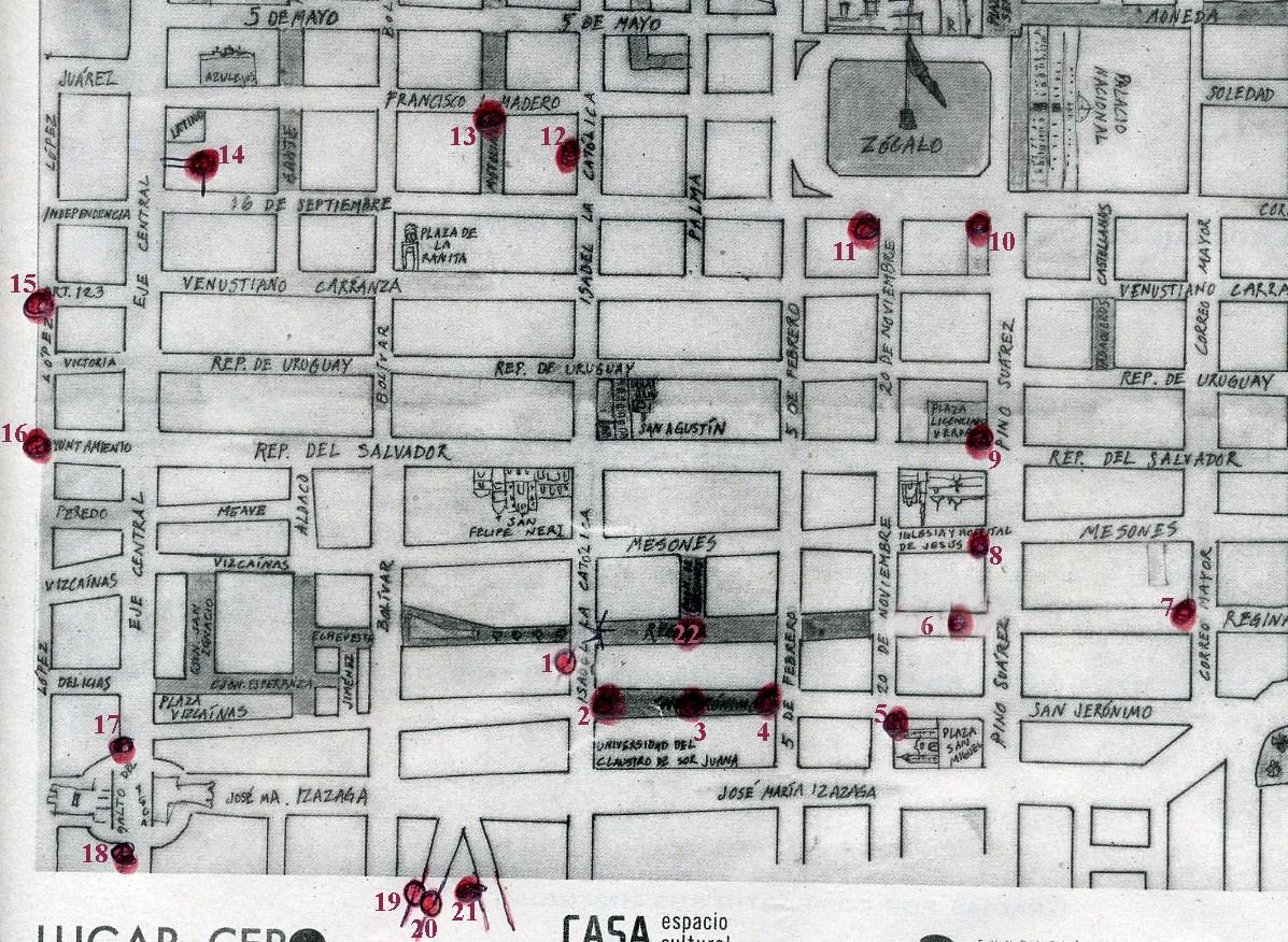 Mapa del centro historico de la ciudad de mexico - Centro historico de madrid ...